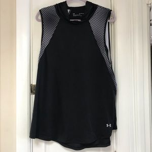 Black Under Amour Hooded Tank